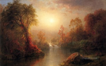 Edwin Works - Autumn scenery Hudson River Frederic Edwin Church