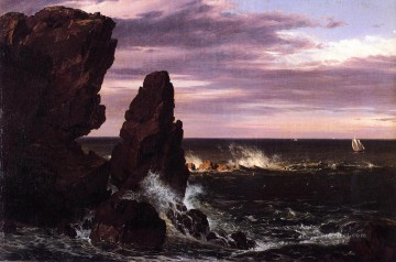 Edwin Works - Coast Scene scenery Hudson River Frederic Edwin Church