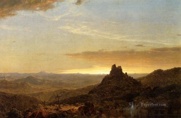 Frederic Edwin Church Painting - Cross in the Wilderness scenery Hudson River Frederic Edwin Church