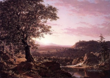 Church Art - July Sunset Berkshire County Massachusetts scenery Hudson River Frederic Edwin Church