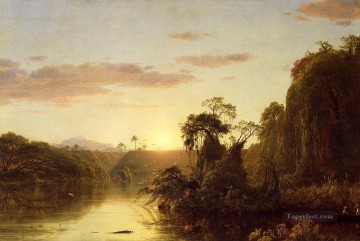 La Magdalena aka Scene on the Magdalena scenery Hudson River Frederic Edwin Church Oil Paintings