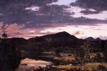 Lake Painting - Lake Scene in Mount Desert scenery Hudson River Frederic Edwin Church