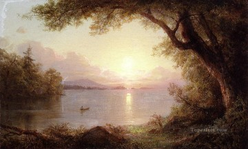 Edwin Works - Landscape in the Adirondacks scenery Hudson River Frederic Edwin Church
