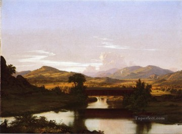 Church Art - On Otter Creek scenery Hudson River Frederic Edwin Church
