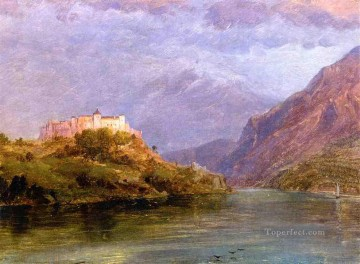 Church Art - Salzburg Castle scenery Hudson River Frederic Edwin Church