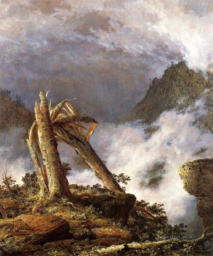 Edwin Works - Storm in the Mountains scenery Hudson River Frederic Edwin Church