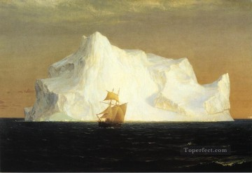 Edwin Works - The Iceberg scenery Hudson River Frederic Edwin Church