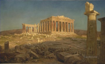 Church Art - The Parthenon scenery Hudson River Frederic Edwin Church