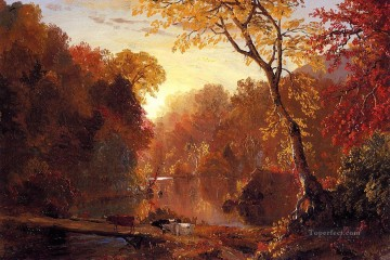 Edwin Works - Autumn in North America scenery Hudson River Frederic Edwin Church