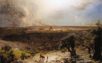 Jerusalem from the Mount of Olives scenery Hudson River Frederic Edwin Church Oil Paintings