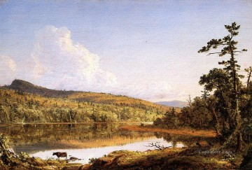 Lake Oil Painting - North Lake scenery Hudson River Frederic Edwin Church