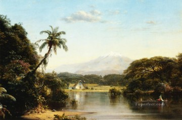 Edwin Works - Scene on the Magdalena scenery Hudson River Frederic Edwin Church