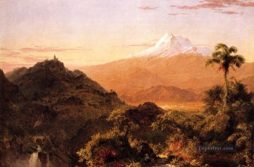 Frederic Edwin Church Painting - South American Landscape scenery Hudson River Frederic Edwin Church