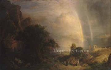 Church Art - The Agean Sea scenery Hudson River Frederic Edwin Church