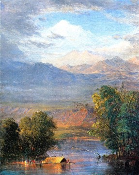 Church Art - The Magdalena River Equador scenery Hudson River Frederic Edwin Church