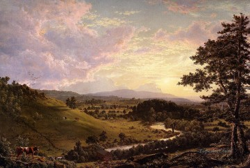 Frederic Edwin Church Painting - View near Stockbridge Mass scenery Hudson River Frederic Edwin Church