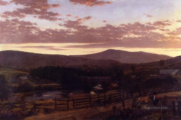 Ira Mountain Vermont scenery Hudson River Frederic Edwin Church Oil Paintings