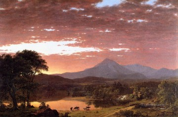 Mount Ktaadn aka Mount Katahdin scenery Hudson River Frederic Edwin Church Oil Paintings