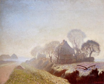Morning Painting - Morning In November modern scenery impressionist Sir George Clausen