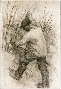 Cook Art - The Hedger Cookham Dean modern peasants impressionist Sir George Clausen