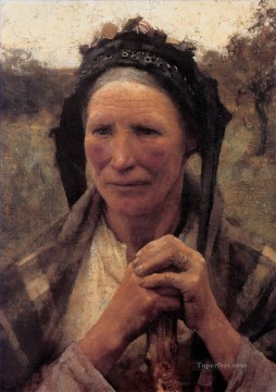 Claus Oil Painting - Head of a Peasant Woman modern peasants impressionist Sir George Clausen