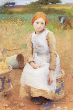 Rose Art - Little Rose modern peasants impressionist Sir George Clausen