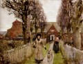 Gaywood Almshouses Kings Lynn 1881 modern peasants impressionist Sir George Clausen