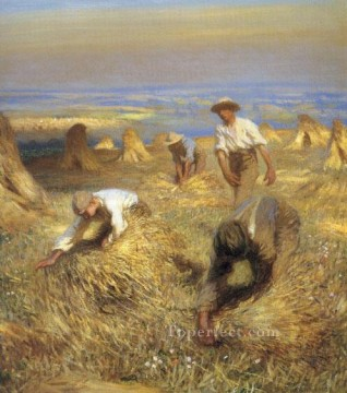 Claus Oil Painting - Harvest modern peasants impressionist Sir George Clausen