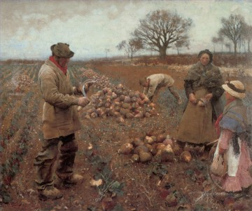 Claus Oil Painting - Winter Work modern peasants impressionist Sir George Clausen