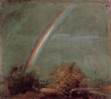 Landscape with a Double Rainbow Romantic John Constable Oil Paintings