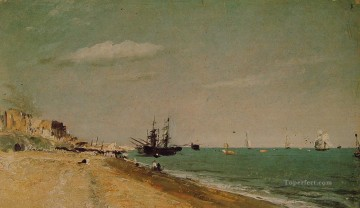 John Constable Painting - Brighton Beach with Colliers Romantic John Constable