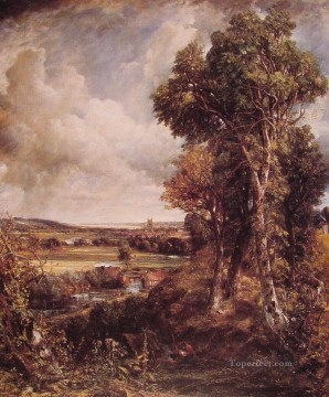 John Constable Painting - Dedham Vale Romantic John Constable