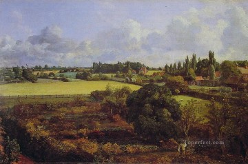 Chen Oil Painting - Golding Constables Kitchen Garden a Romantic John Constable