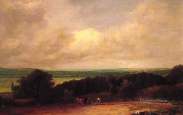 Landscape ploughing scene in Suffolk Romantic John Constable Oil Paintings