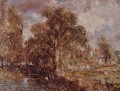 Scene on a river2 Romantic John Constable