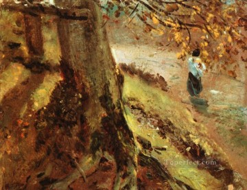 Tree trunks Romantic John Constable Oil Paintings
