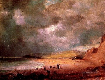 Stable Oil Painting - Weymouth Bay2 Romantic John Constable