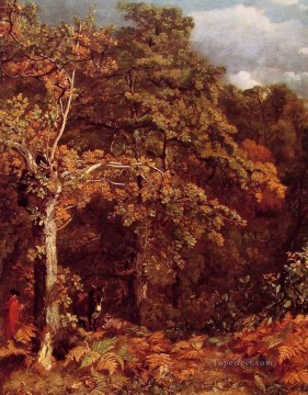 john painting - Wooded Landscape Romantic John Constable