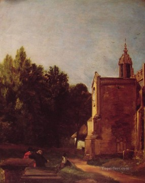A Church porch Romantic John Constable Oil Paintings