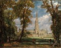 Salisbury Cathedral Romantic John Constable