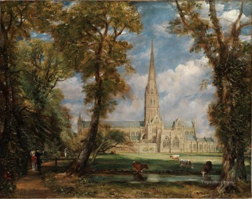 Salisbury Cathedral Romantic John Constable Oil Paintings