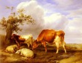 In The Canterbury Meadows farm animals cattle Thomas Sidney Cooper