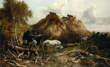 thomas - Clearing The Wood For The Iron Way farm animals Thomas Sidney Cooper
