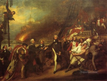 The Victory of Lord Duncan aka Surrender of the Dutch Admiral De Winter colonial New England John Singleton Copley Oil Paintings
