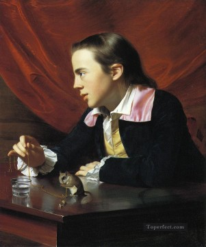 aka works - Boy with a Squirrel aka Henry Pelham colonial New England Portraiture John Singleton Copley