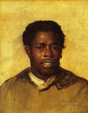 Head of a Negro colonial New England Portraiture John Singleton Copley Oil Paintings