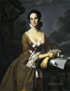 lan art - Mrs Daniel Hubbard Mary Greene colonial New England Portraiture John Singleton Copley