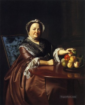 Mrs Ezekiel Gondthwait Elizabeth Lewis colonial New England Portraiture John Singleton Copley Oil Paintings