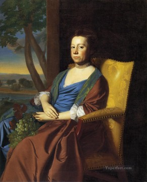 lan art - Mrs Isaac Smith colonial New England Portraiture John Singleton Copley