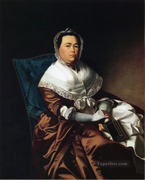 the Canvas - Mrs James Russell Katherine Graves colonial New England Portraiture John Singleton Copley